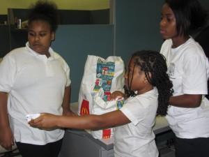 Kids serving at Greenlaw