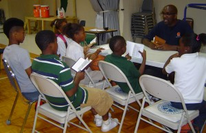 Daryl leads our youth in a Bible Study