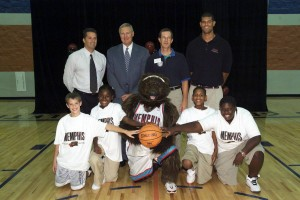 Photo 1.Grand opening of Grizzlies Center