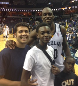 Court side seats and a pic with Quincy Pondexter made Jay-Tavious' first NBA game very special.