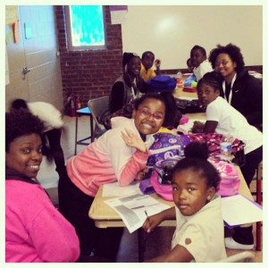 The University of Memphis NAACP loves to tutor our youth at MAM - Bethel LaBelle.