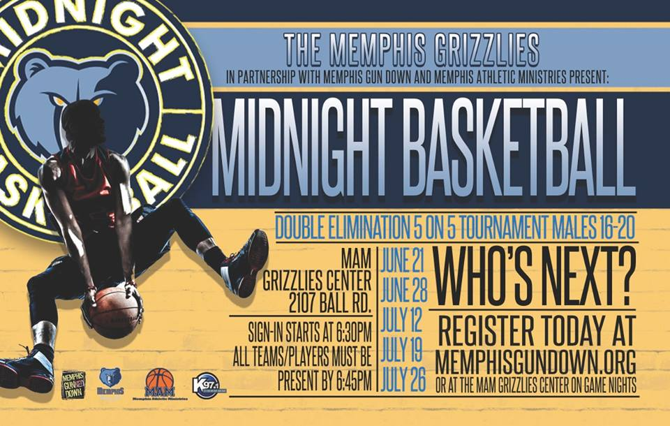 Grizzlies participating in Midnight Basketball initiative