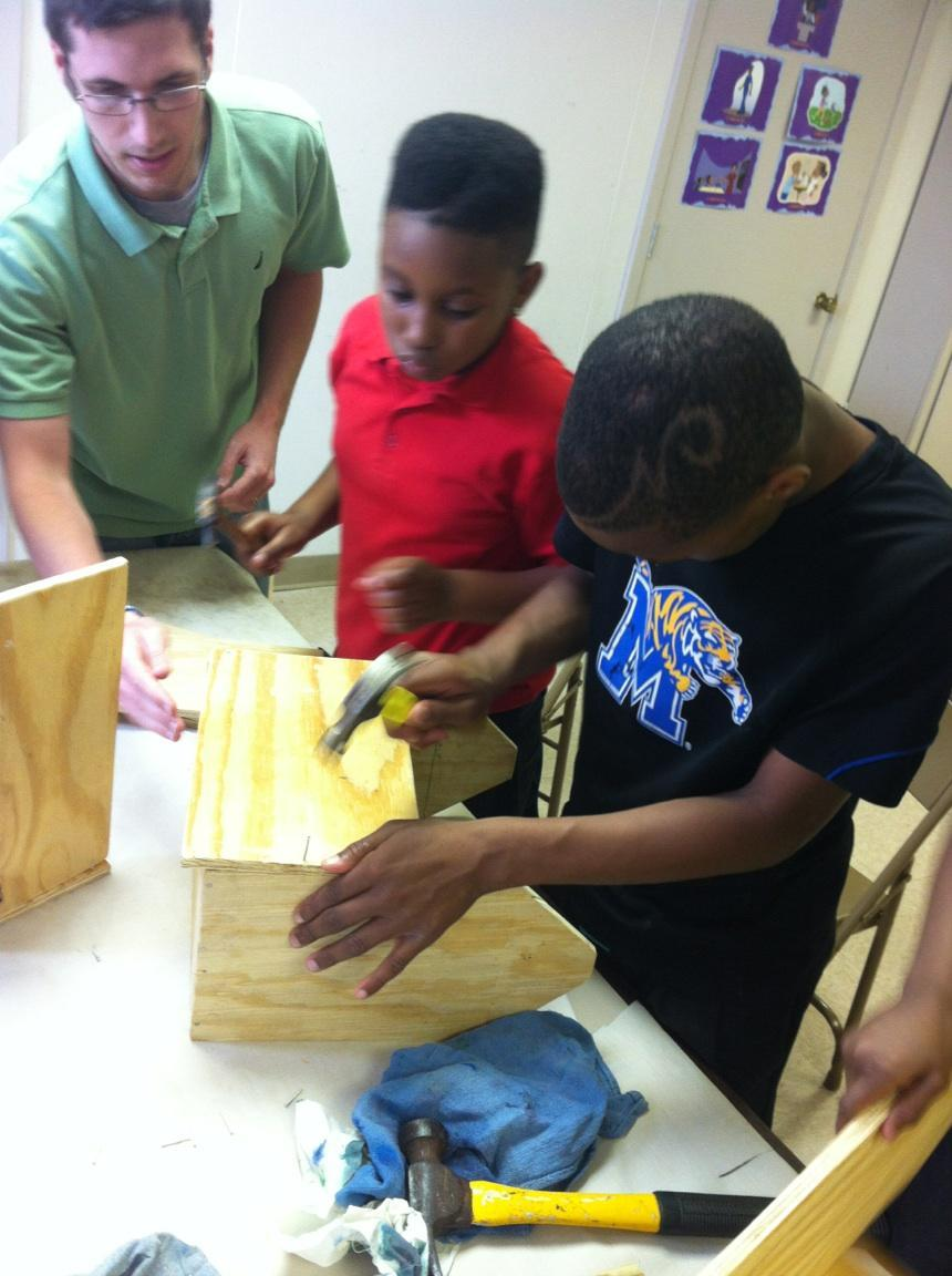 Teaching Jesus through birdhouses and toolboxes