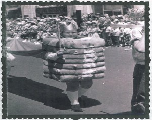 Coach Vince Alfonso, MAM  Golf Director, represented St. Thomas Elementary as King of Cotton in a parade in 1956.
