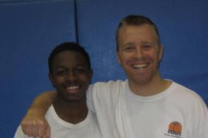 Cardarrius Jones and Coach Ben