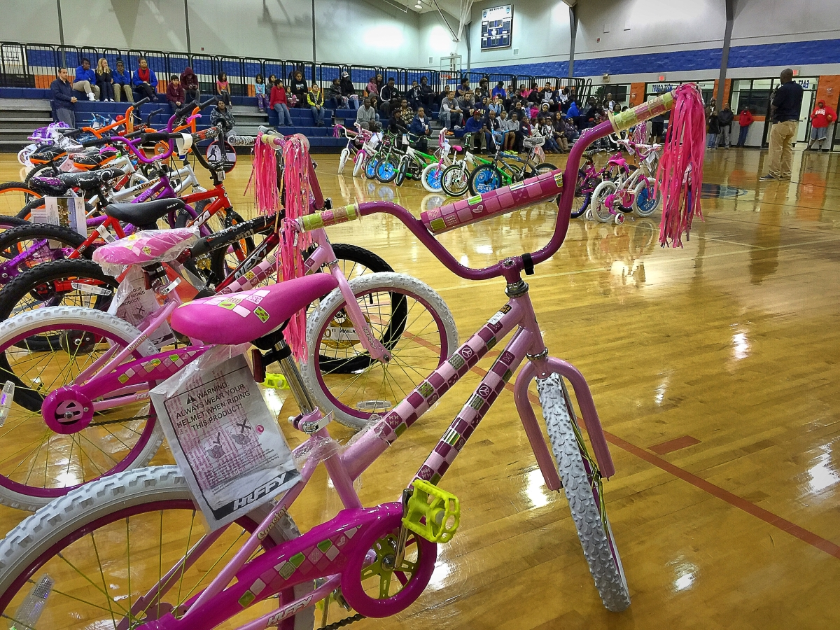 Bicycles donated to 120 MAM kids for Christmas