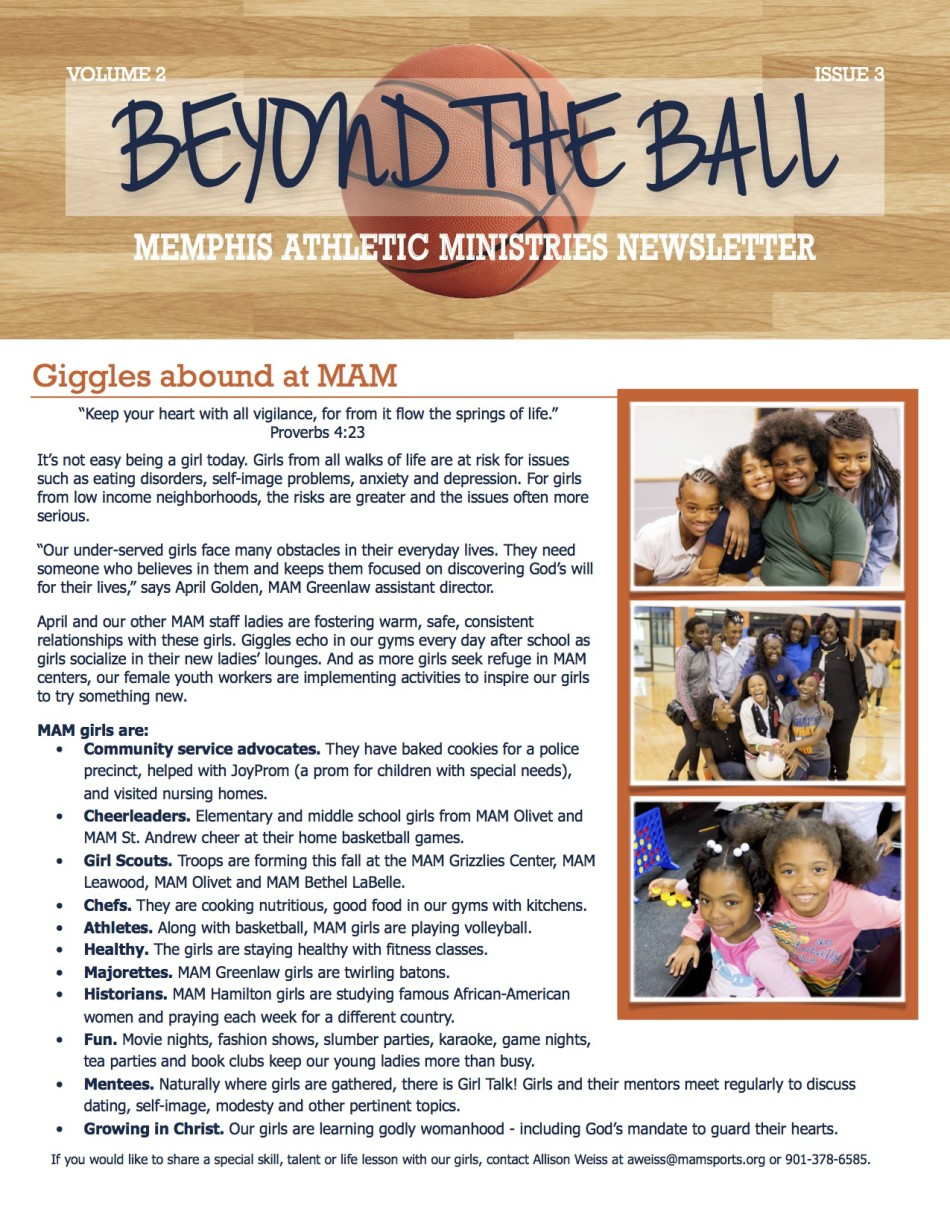 Beyond the Ball, Volume 2, Issue 3 – Memphis Athletic Ministries